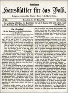 Breslauer Hausblätter für das Volk. Jg. 3, Nr. 22 (1865)