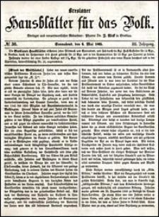 Breslauer Hausblätter für das Volk. Jg. 3, Nr. 36 (1865)