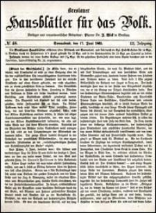 Breslauer Hausblätter für das Volk. Jg. 3, Nr. 48 (1865)