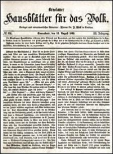 Breslauer Hausblätter für das Volk. Jg. 3, Nr. 64 (1865)