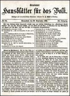 Breslauer Hausblätter für das Volk. Jg. 3, Nr. 78 (1865)