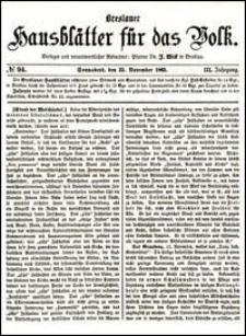 Breslauer Hausblätter für das Volk. Jg. 3, Nr. 94 (1865)