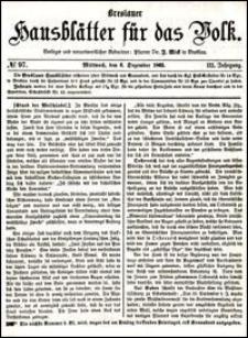 Breslauer Hausblätter für das Volk. Jg. 3, Nr. 97 (1865)