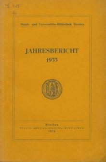 Jahresbericht. 1933