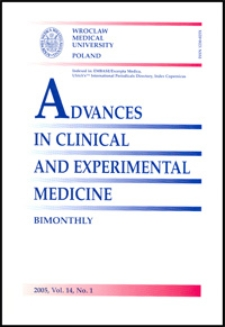 Advances in Clinical and Experimental Medicine, Vol. 14, 2005, nr 1