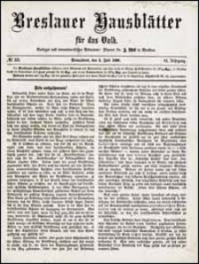 Breslauer Hausblätter für das Volk. Jg. 6, Nr. 53 (1868) + Beilage