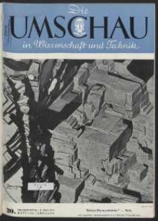 Die Umschau : Wochenschschrift über die Fortschritte in Wissenschaft und Technik. 45. Jahrgang, 1941, Heft 20