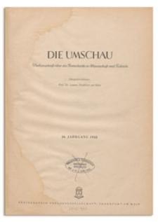 Die Umschau : Wochenschschrift über die Fortschritte in Wissenschaft und Technik. 46. Jahrgang, 1942, Heft 16