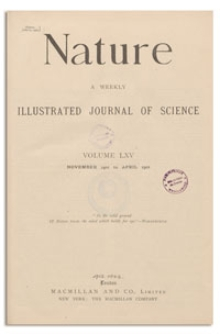 Nature : a Weekly Illustrated Journal of Science. Volume 65, 1901 December 19, [No. 1677]