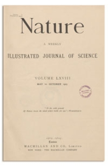 Nature : a Weekly Illustrated Journal of Science. Volume 68, 1903 September 3, [No. 1766]