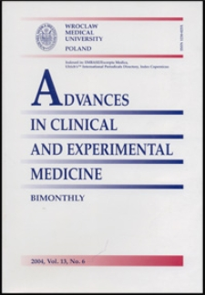 Advances in Clinical and Experimental Medicine, Vol. 13, 2004, nr 6