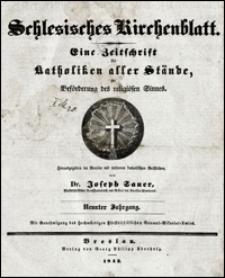Schlesisches Kirchenblatt. Jg. 9, Inhalts-Verzeichniß (1843)