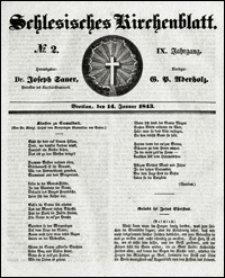 Schlesisches Kirchenblatt. Jg. 9, Nr. 2 (1843)