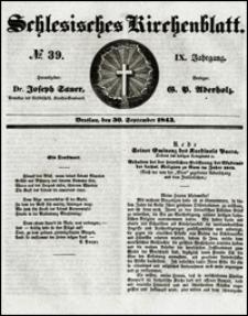 Schlesisches Kirchenblatt. Jg. 9, Nr. 39 (1843)