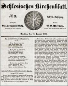 Schlesisches Kirchenblatt. Jg. 18, Nr. 3 (1852) + Beilage