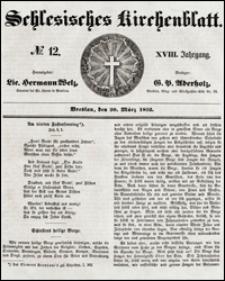 Schlesisches Kirchenblatt. Jg. 18, Nr. 12 (1852) + Beilage