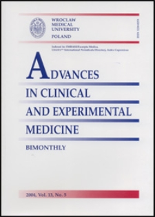 Advances in Clinical and Experimental Medicine, Vol. 13, 2004, nr 5