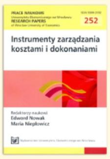 """""""Zrównoważony"""" rachunek kosztów. Prace Naukowe Uniwersytetu Ekonomicznego we Wrocławiu = Research Papers of Wrocław University of Economics, 2012, Nr 252, s. 280-289"""