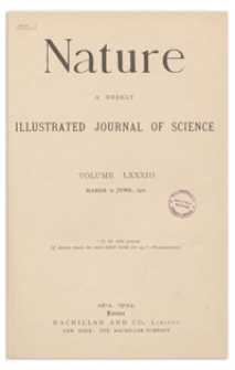 Nature : a Weekly Illustrated Journal of Science. Volume 83, 1910 June 2, [No. 2118]