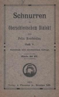 Schnurren in oberschlesischem Dialekt. H. 5