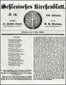 Schlesisches Kirchenblatt. Jg. 13, Nr. 19 (1847) + Beilage