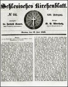 Schlesisches Kirchenblatt. Jg. 13, Nr. 24 (1847) + Beilage