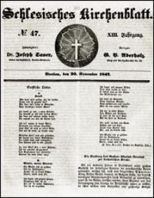 Schlesisches Kirchenblatt. Jg. 13, Nr. 47 (1847) + Beilage