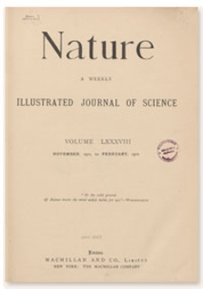 Nature : a Weekly Illustrated Journal of Science. Volume 88, 1912 February 1, [No. 2205]