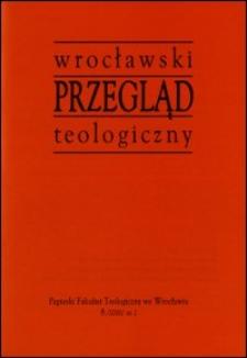 Wrocławski Przegląd Teologiczny, R.8 (2000), nr 2