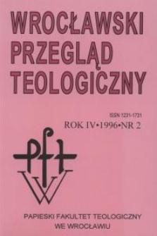 Wrocławski Przegląd Teologiczny, R.4 (1996), nr 2
