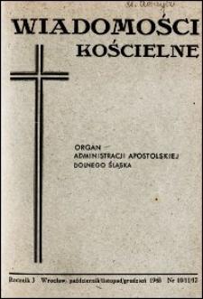 Wiadomości Kościelne. R. 3, 1948, nr 10-12