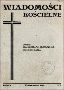 Wiadomości Kościelne. R. 4, 1949, nr 3