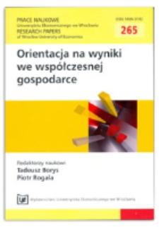 Perspektywy satysfakcji nauczycieli. Prace Naukowe Uniwersytetu Ekonomicznego we Wrocławiu = Research Papers of Wrocław University of Economics, 2012, Nr 265, s. 54-64