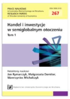 Bezpośrednie inwestycje zagraniczne Indii. Prace Naukowe Uniwersytetu Ekonomicznego we Wrocławiu = Research Papers of Wrocław University of Economics, 2012, Nr 267, T. 1, s. 110-120