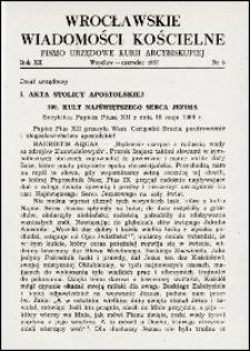 Wrocławskie Wiadomości Kościelne. R. 12, 1957, nr 6