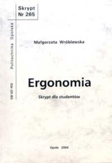 Ergonomia : skrypt dla studentów
