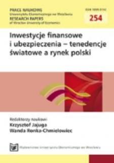 Struktura kapitału w cyklu życia przedsiębiorstwa. prace Naukowe Uniwersytetu Ekonomicznego we Wrocławiu = Research Papers of Wroclaw University of Economics, 2012, Nr. 254, s. 262-270