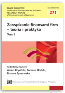 Financial leverage puzzle - preliminary conclusions from literature review. Prace Naukowe Uniwersytetu Ekonomicznego we Wrocławiu = Research Papers of Wrocław University of Economics, 2012, Nr 271, T. 1, s. 22-39