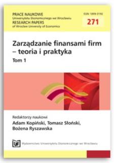 Financial structure and organization of keiretsu - Japanese business groups. Prace Naukowe Uniwersytetu Ekonomicznego we Wrocławiu = Research Papers of Wrocław University of Economics, 2012, Nr 271, T. 1, s. 181-190