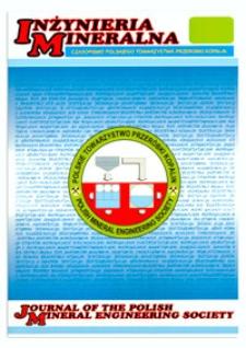 Inżynieria Mineralna : czasopismo Polskiego Towarzystwa Przeróbki Kopalin, R. XIII, 2012, nr 1-2