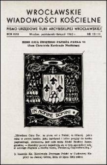 Wrocławskie Wiadomości Kościelne. R. 18, 1963, nr 10-11