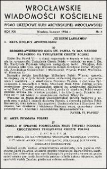 Wrocławskie Wiadomości Kościelne. R. 21, 1966, nr 4