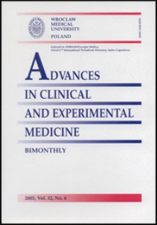 Advances in Clinical and Experimental Medicine, Vol. 12, 2003, nr 6