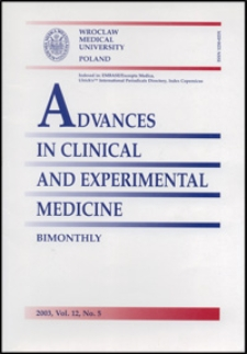 Advances in Clinical and Experimental Medicine, Vol. 12, 2003, nr 5