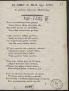 Na Dzien 18. Maja 1792 Roku Po podaniu deklaracyi Moskiewskiey