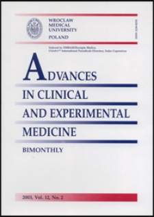 Advances in Clinical and Experimental Medicine, Vol. 12, 2003, nr 2