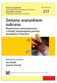 Architektura współpracy przedsiębiorstw. Prace Naukowe Uniwersytetu Ekonomicznego we Wrocławiu = Research Papers of Wrocław University of Economics, 2013, Nr 277, s. 367-375