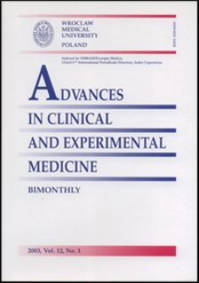Advances in Clinical and Experimental Medicine, Vol. 12, 2003, nr 1