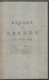 Kolęda Dla Narodu Na Rok 1785