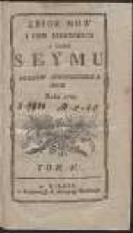 Zbior mow i pism niektorych w czasie seymu stanow skonfederowanych roku 1789. T. 5